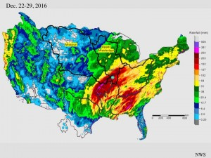 Precipitation before the flood of 2015-16