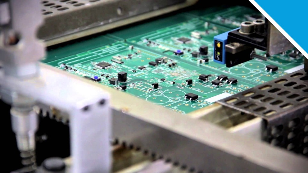 Computer chip being made.