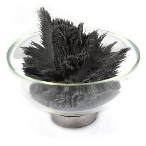 iron filings in dish
