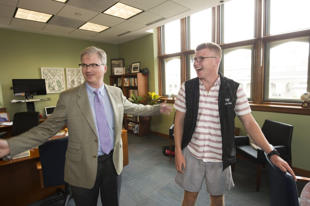 Sims learns he is a Truman Scholar
