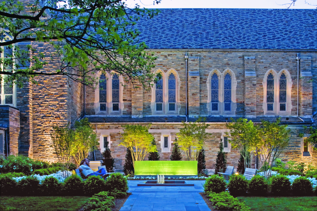 September 11 Memorial Garden at Loyola University, Maryland, landscape architecture, Hord Coplan Macht (Alain Jaramillo)