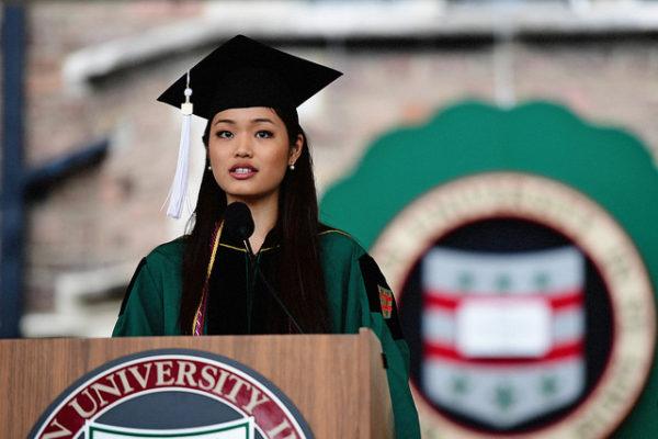 Senior class president Christine Lung's speech to graduates