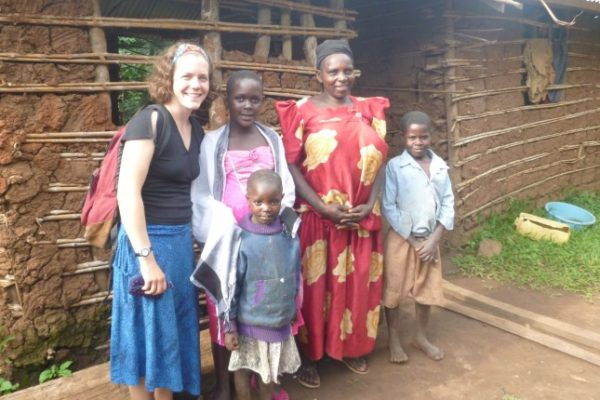 Colleen Walsh Lang (left) on a recent trip to Uganda.