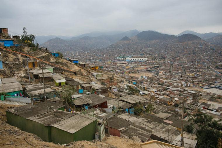 A slum in Lima, Peru.