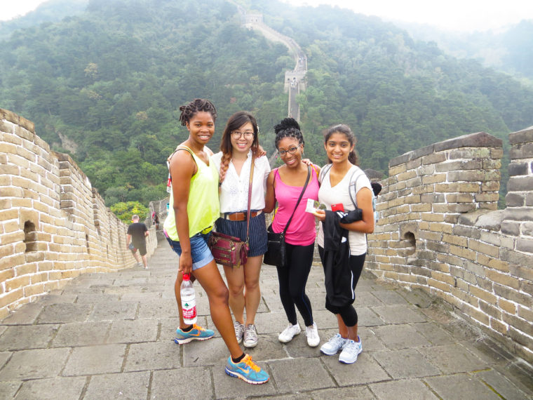 Global Med Prep Scholars at the Great Wall of China