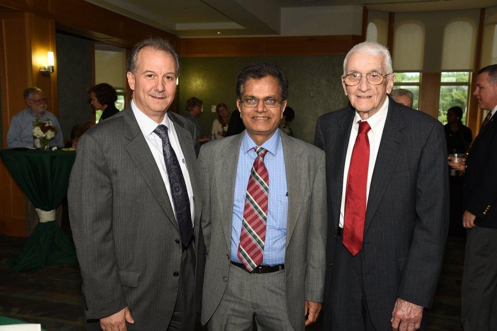 From left: Aaron Bobick, Raj Jain and Jerry Cox