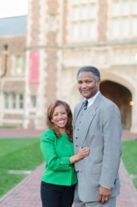 Lori White and Anthony Tillman on campus