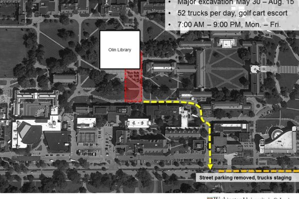 Danforth Campus construction update: Projects and timing
