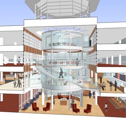 Olin Library rendering