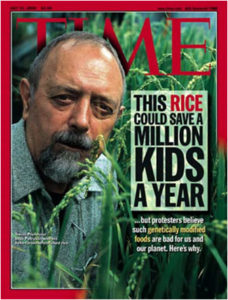 Golden Rice on Time cover