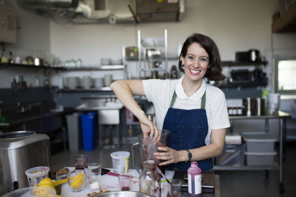 Deborah Gorman, co-founder of vegan ice cream company Sorbabes, was inspired to choose her career path after traveling abroad to Italy while a student at Washington University. (Photo: Rob Brown)