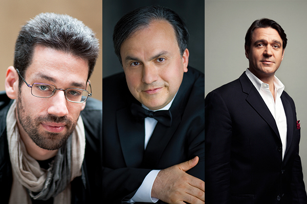 From left: Jonathan Biss, Yefim Bronfman and Nathan Gunn