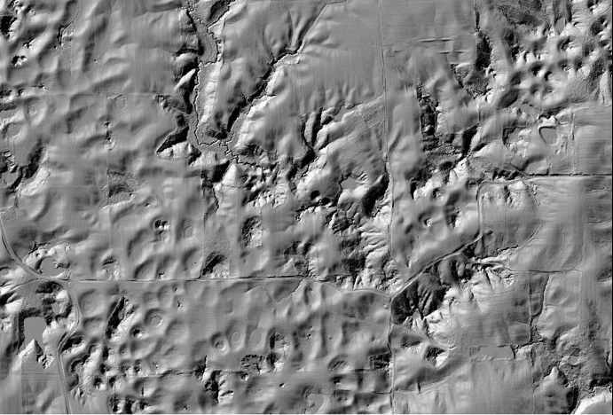 Lidar image of sinkhope plain