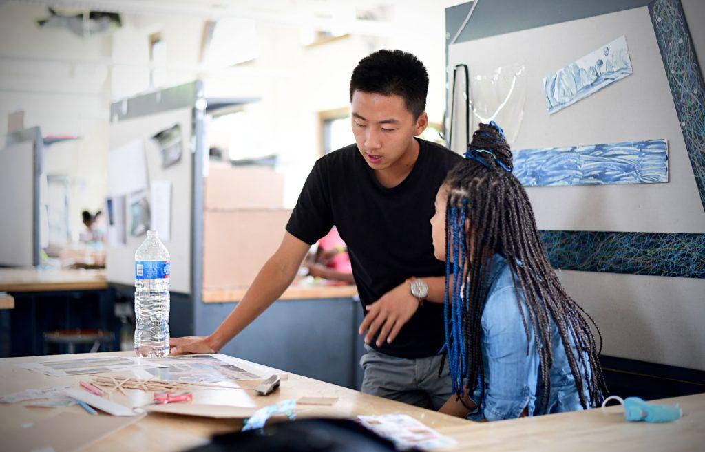 The Sam Fox School's Alberti Program works introduces fourth- through ninth-grade students to architecture and design. (Photo: James Byard/Washington University)