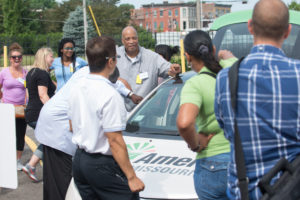 Teachers learn about electric cars
