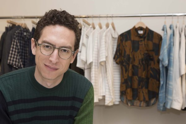 Menswear fashion designer Daniel Dugoff in his studio
