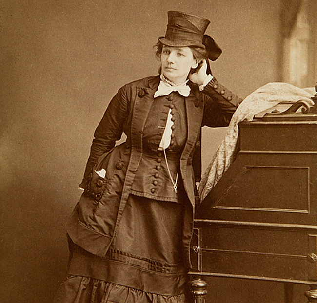 Victoria Woodhull, c. 1870. Photo by Matthew Brady.