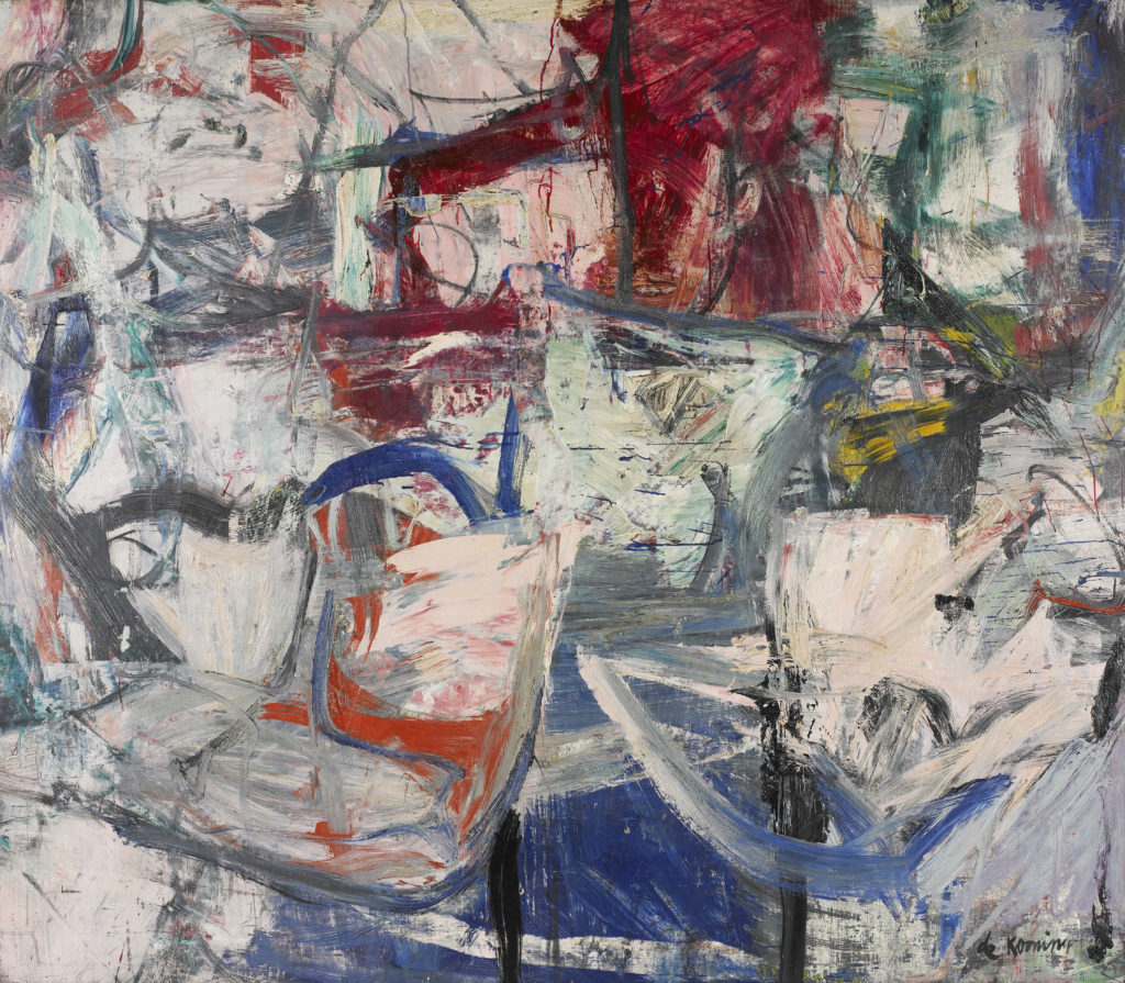 "Willem de Kooning (American, b. Netherlands, 1904–1997), ""Saturday Night,"" 1956. Oil on canvas, 68 3/4 x 79"". Mildred Lane Kemper Art Museum, Washington University in St. Louis. University purchase, Bixby Fund, 1956. © 2016 The Willem de Kooning Foundation / Artists Rights Society (ARS), New York."
