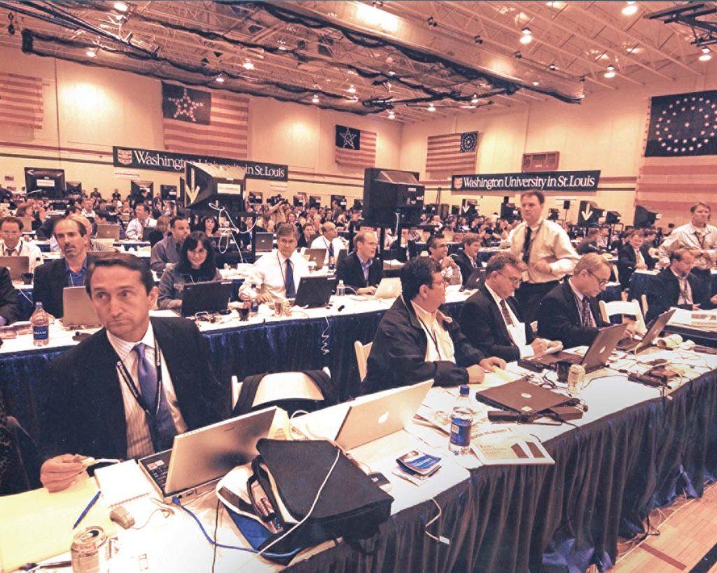 Behind the scenes at the 2004 debate.