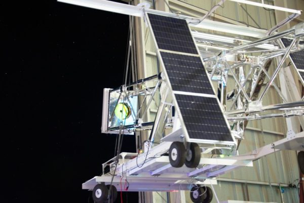 The mission team has been at the Columbia Scientific Balloon Facility in Fort Sumner, N.M., since August, getting ready for the flight. On Sept. 2, the team calibrated optical components of the telescope by opening the door of the hanger and pointing the telescope into the night sky.