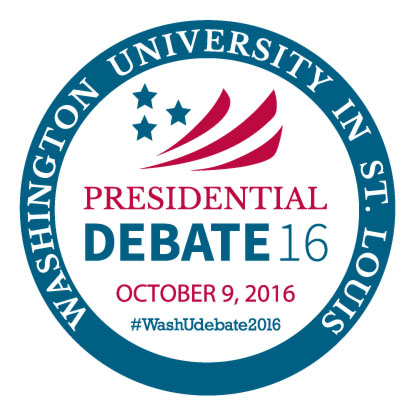The Presidential Debate at WashU, Oct 9. 2016.