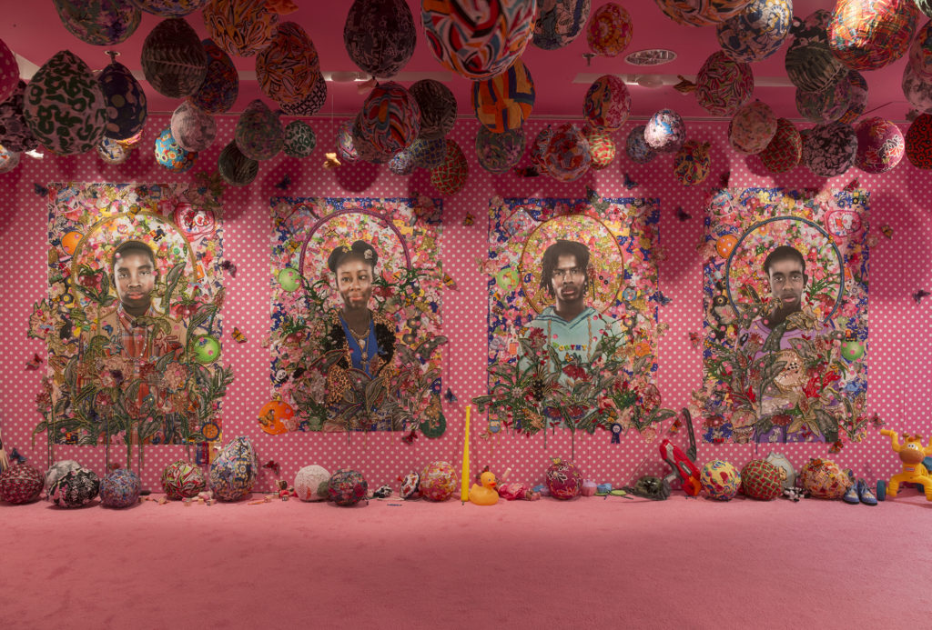 "Ebony G. Patterson, ""…when they grow up…."" Installation view at The Studio Museum in Harlem, 2016. Photo by Adam Reich. Courtesy of the artist and Monique Meloche Gallery, Chicago."