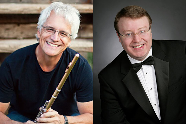 Flutist Mark Sparks (left) and pianist Peter Henderson will launch the Danforth University Center's fall Chamber Music Series Tuesday, Sept. 27.