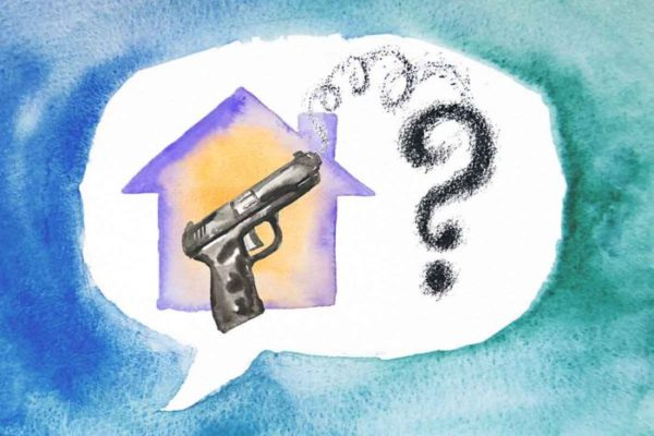 A study of parents by researchers at Washington University School of Medicine in St. Louis shows that about half of the children whose parents were surveyed spend time in homes that have firearms. (Image: Eric Young/School of Medicine)