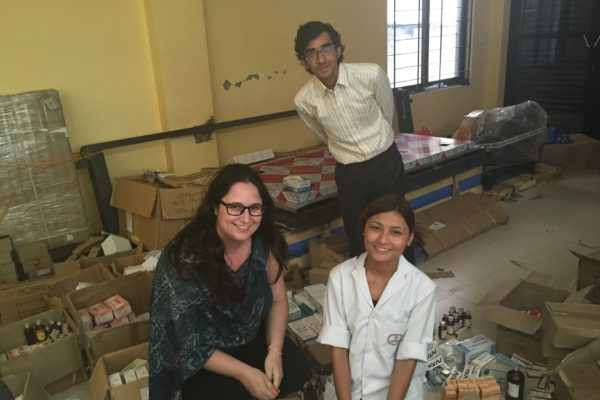 Law student Marla Borkson (left) volunteered in Nepal after a large earthquake hit the country in April 2015.