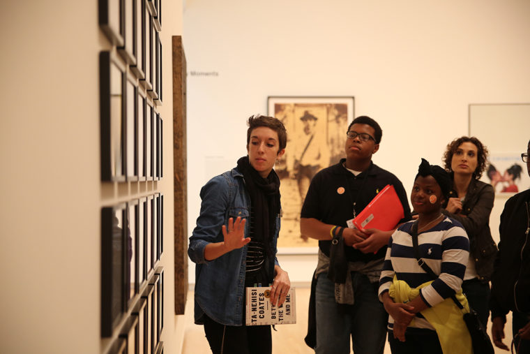 students tour Kemper Art Museum