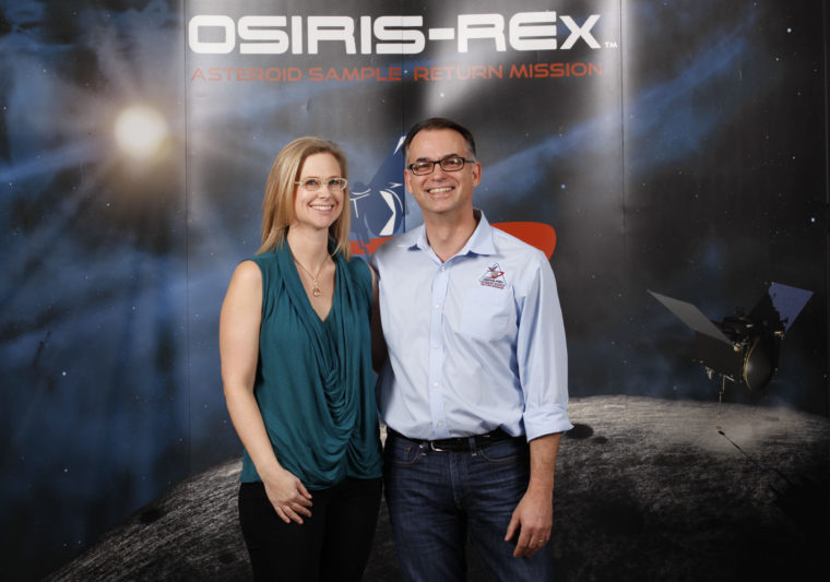 Mission chief Dante Lauretta and project data archivist Kate Crombie — met while in graduate school in earth and planetary sciences in 1993 — the husband-and-wife team have a lot riding on the Atlas V rocket: 12 years of intense, time-consuming work on NASA's OSIRIS-REx mission. (photo credit to come)