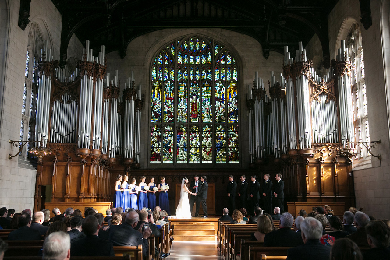 a wedding in Graham Chapel