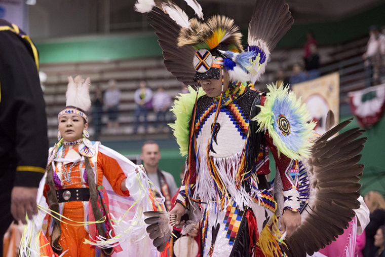 people take part in a pow wow