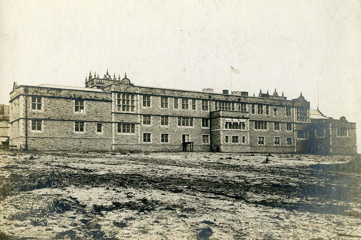 Busch Hall historic photo
