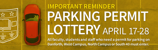 Danforth parking lottery open April 17-28. All permit holders must enter. Learn more.