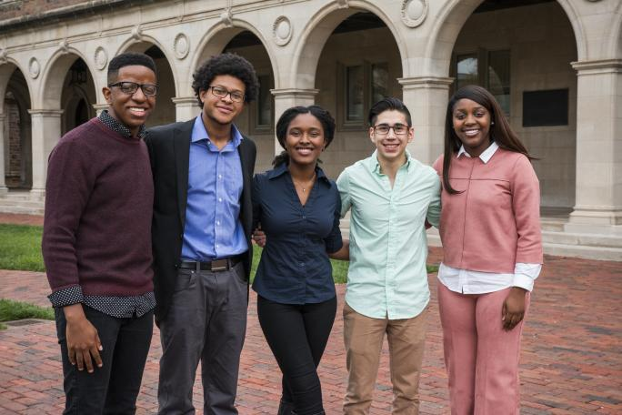 Mellon Mays Undergraduate Fellowship students