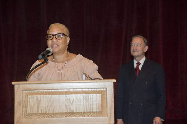 Jackson receives Gloria W. White service award