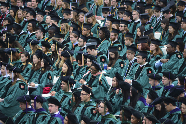 crowd at Commencement