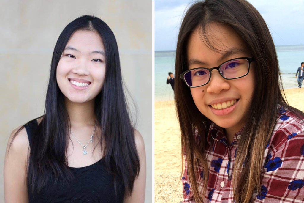 Lily Cao (left) and Jennifer Hsu