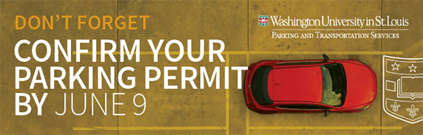 Confirm your parking permit by June 9.