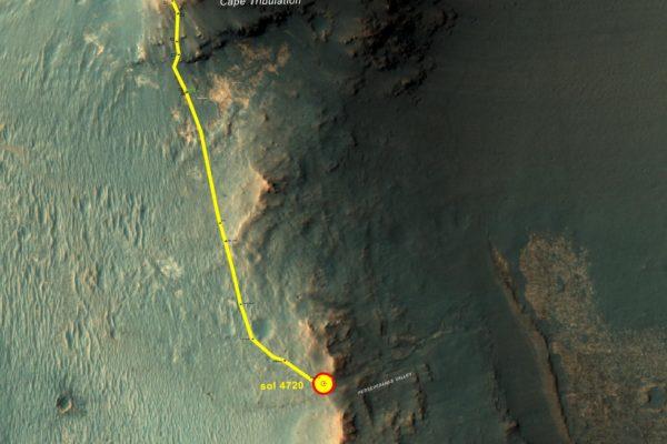 A spillway on Mars?