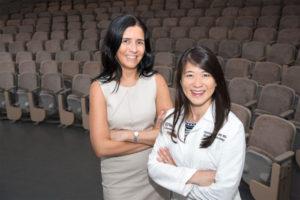 Loeb fellows Sabrina Nunez (left) and Patricia Kao