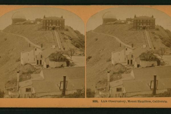 The Lick Observatory at Mount Hamilton in California circa 1880.