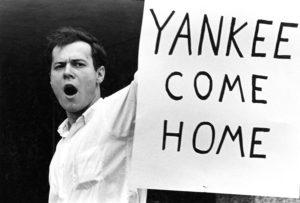 Student protestor, 1960s. (Washington University Archives)