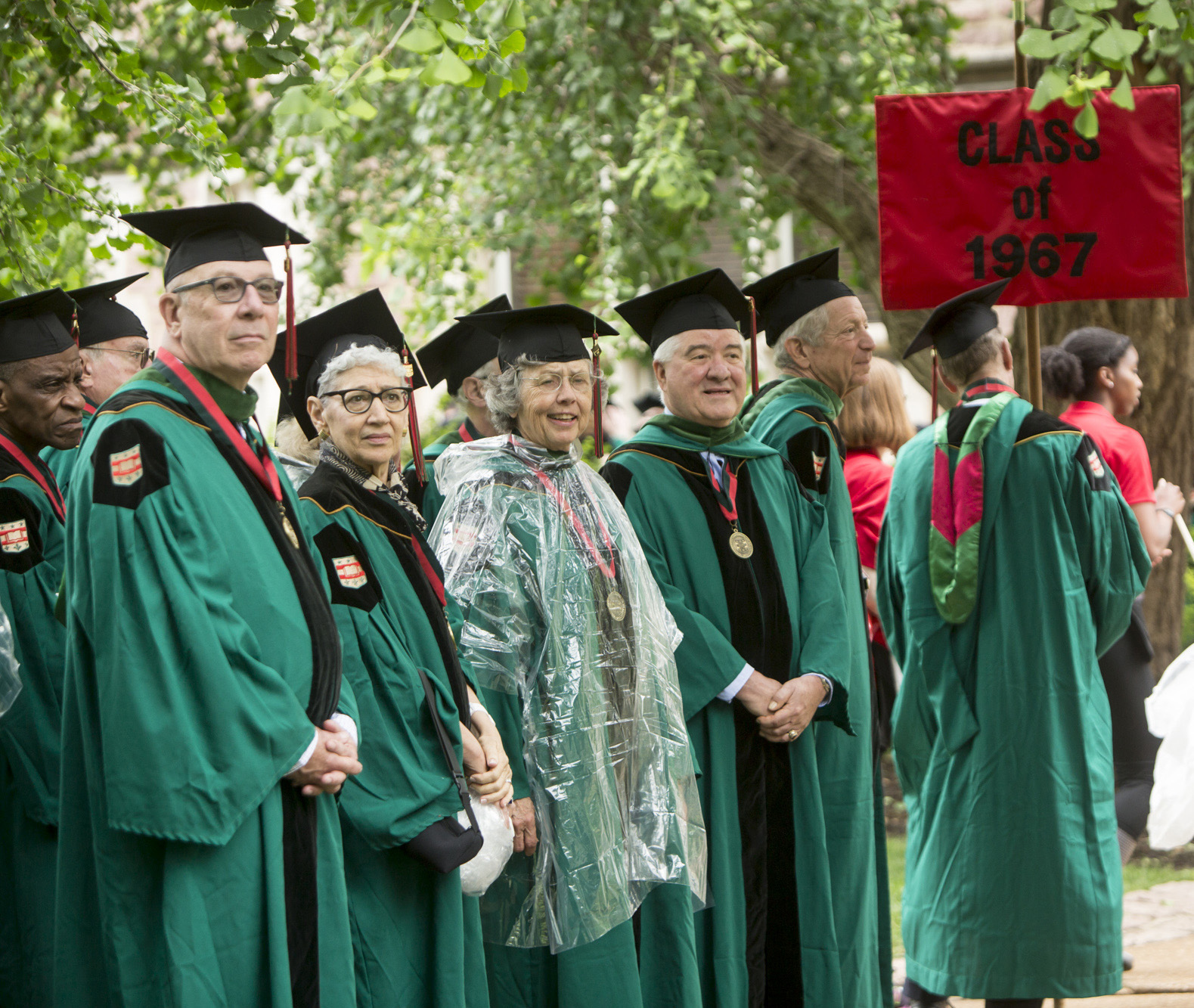 The 50th Reunion class attending the Commencement Ceremony. (Jerry Naunheim Jr./WUSTL Photos)