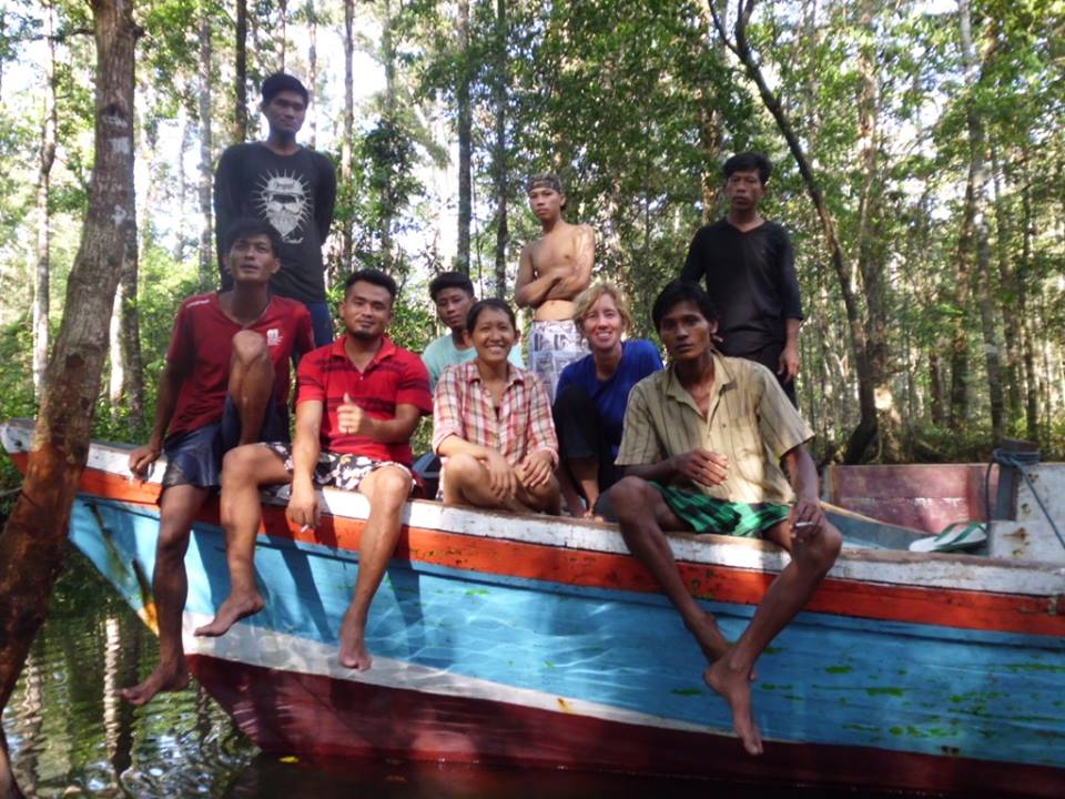 Robin McDowell, along with Burmese reporter Esther Htusan, spent the night in the jungle on the island of Dobo with men who had escaped from fishing trawlers. The men were eeking out a living cutting down trees and selling them to local construction companies on a neighboring island. (Courtesy photo)