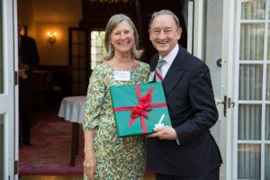 Nancy Galofre with Chancellor Wrighton