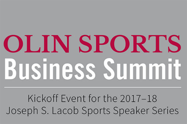 Annual Olin Sports Business Summit Sept. 29
