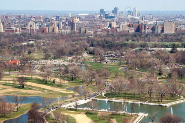 Forest Park to the Arch