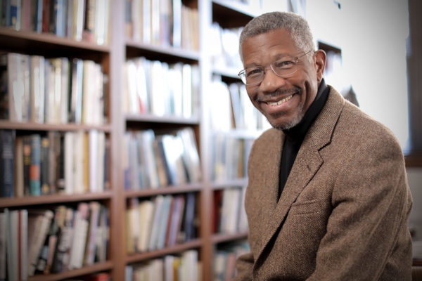 Gerald Early, the Merle Kling Professor of Modern Letters in the Department of English and professor in the African and African American Studies Department, in his office. Photo by James Byard